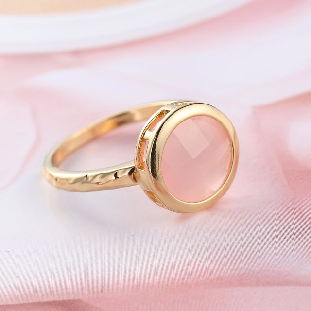 Online Cat S Eye Stone Ring Elegant Gold Color Green Ping Opal Austrian Crystals Rings For Wedding Engagement Promise Jewelry Aliexpress