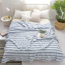 Home Textile Stripe Plaid Printed Washable Comforter Lightweight Bed Cover Duvet Cover Bed Blanket Warm Bedspread Summer Quilt(China)