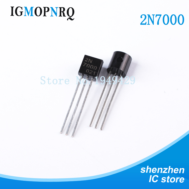 20PCS/LOT 2N7000 TO92 Small Signal MOSFET 200 MAmps, 60 Volts N-Channel TO-92 New
