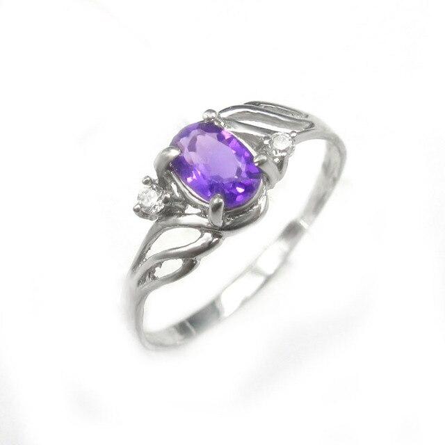 LANZYO 925 Silver Amethyst Rings fashion jewelry Wholesale Jewelry