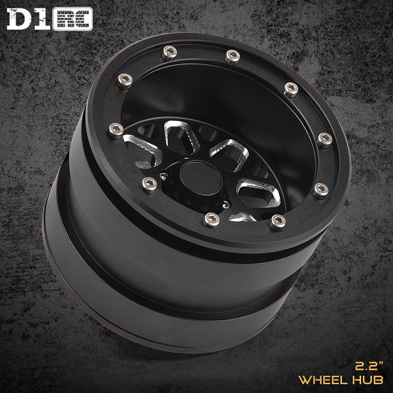 4 pièces D1RC 2.2 Pouces Tournesol Beadlock Jante De Roue Pour 1:10 1:8 Traxxas TRX-4 TRX4 RC4WD D90 D110 TF2 Axiale SCX10 90046