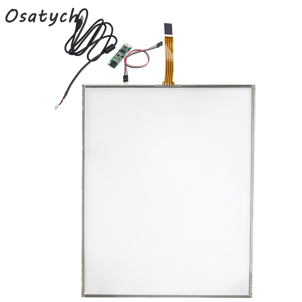 15 inch 4 wire Touch Screen + USB Port Controller Card Function Glass Repair Replacement 322* 247mm Touch Panel Free Shipping
