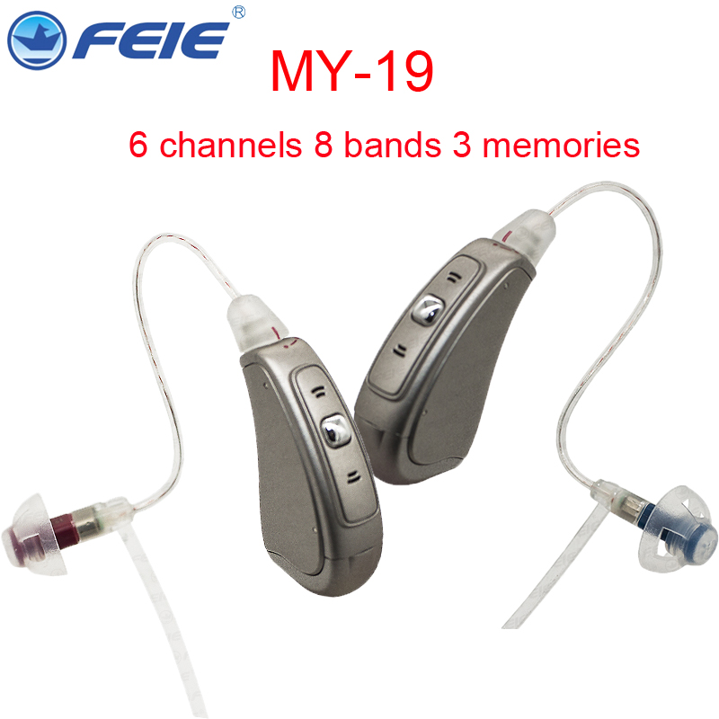 FEIE Factory Hearing Aid Customized Earphone Hearing Amplifier Aids Sound Enhancer Louder Voice for 30~80dB Deafness MY-19 2018 hearing aid mini sound amplifier volume controled ear care earphone hearing aids tinny deafness machine s 9a