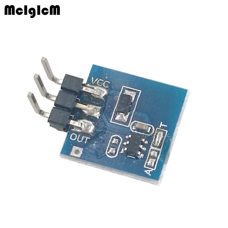 MCIGICM 100pcs Touch Key Module capacitive switch can be set to self locking jog mode TTP223