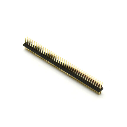 5pcs Pitch 1.27mm 80 Pin 2x40 Double Row Male Breakable Pin Header Connector Strip for Arduino Black