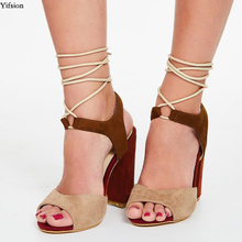 Olomm New Arrival Women Gladiator Sandals Sexy Stiletto Heels Sandals Open Toe Apricot Leisure Shoes Women US Plus Size 5-15 new stylish women sandals 2017 open toe thin heels sandals high quality multicolors shoes woman plus us size 4 15