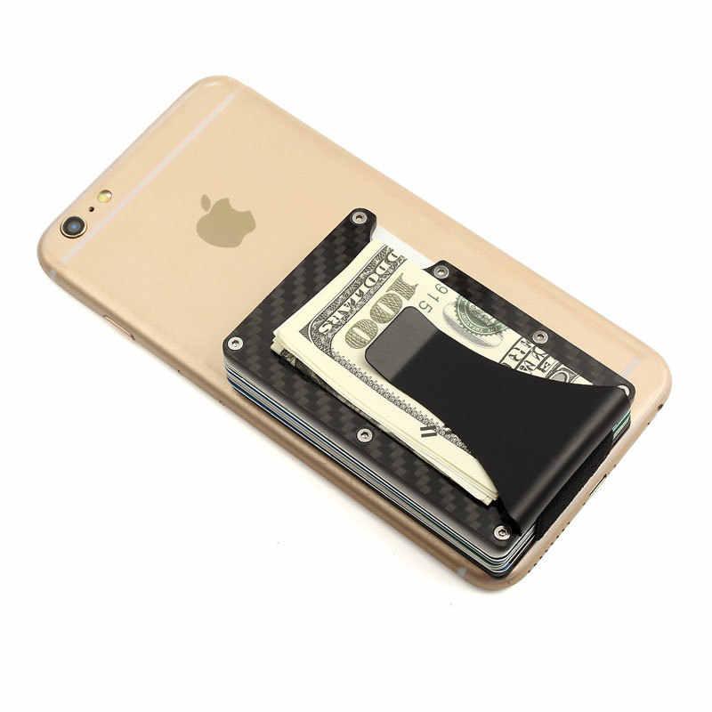 Анти-защита блокировка Rfid кошелек переносной для кредитных карт держатель ID для мужчин и женщин