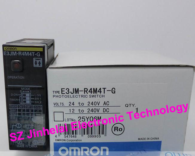 New and original E3JM-R4M4T-G ORMON Photoelectric switch 24-240VAC/12-24VDC e3x hd10 new and original ormon photoelectric switch optical fiber amplifier 12 24vdc 2m