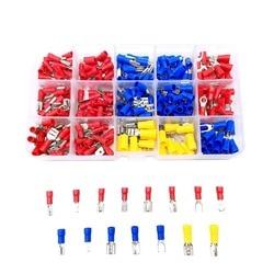 720 Pcs różne izolowane Spade Crimp Terminal złącze przewodu elektrycznego zestaw czerwony niebieski żółty