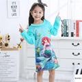 New Listing 2018 Autumn Winter Children's Long-sleeved Warm Flannel Nightgown Girls Cartoon Children's Pajamas Baby Sleepwear