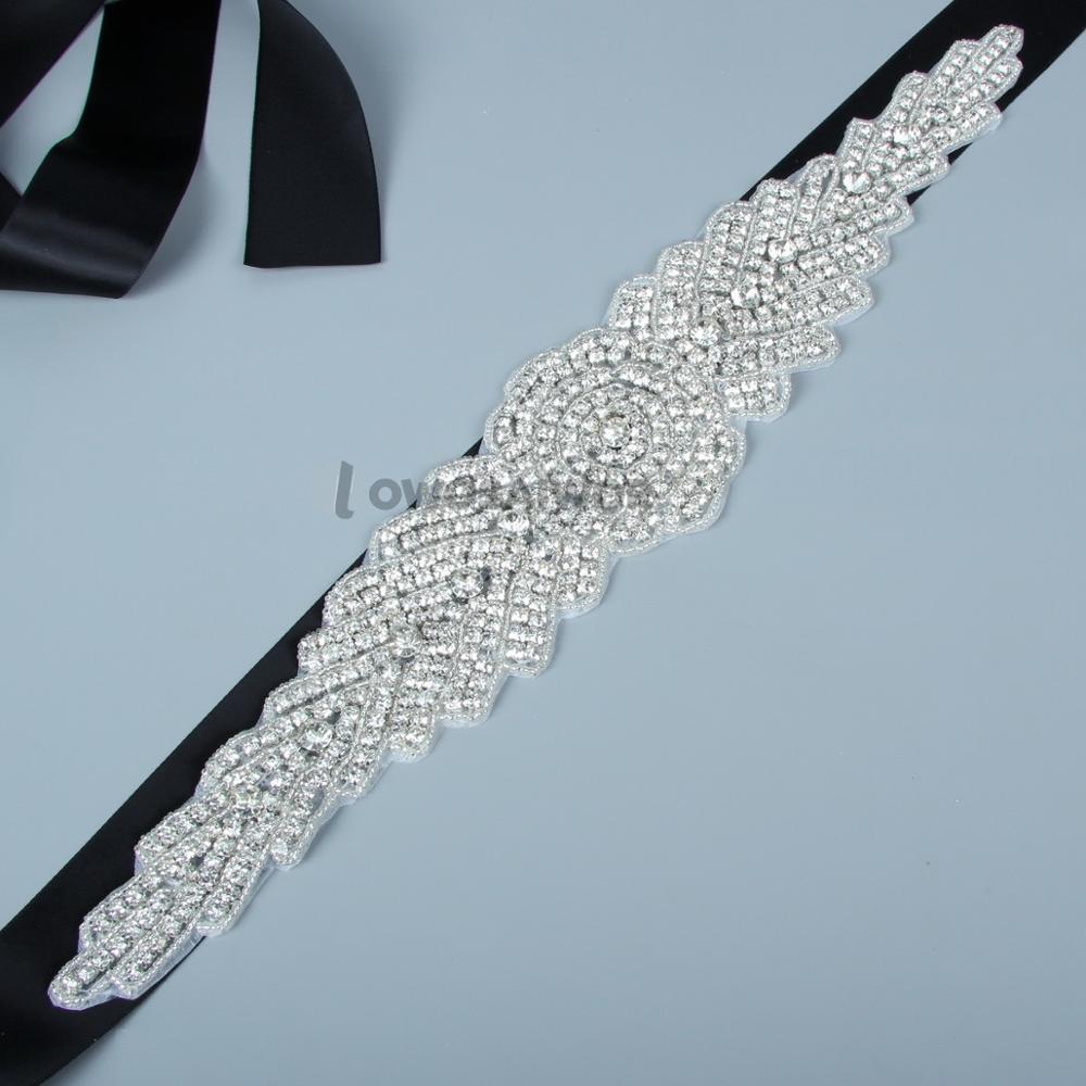 Wholesale  Handmade Beaded Crystals Wedding Belt With Stones Wedding Dress Accessories Rhinestone Bridal Sash