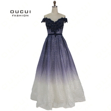 oucui Real Photo V-Neck Appliques Ball Gown Prom Dresses