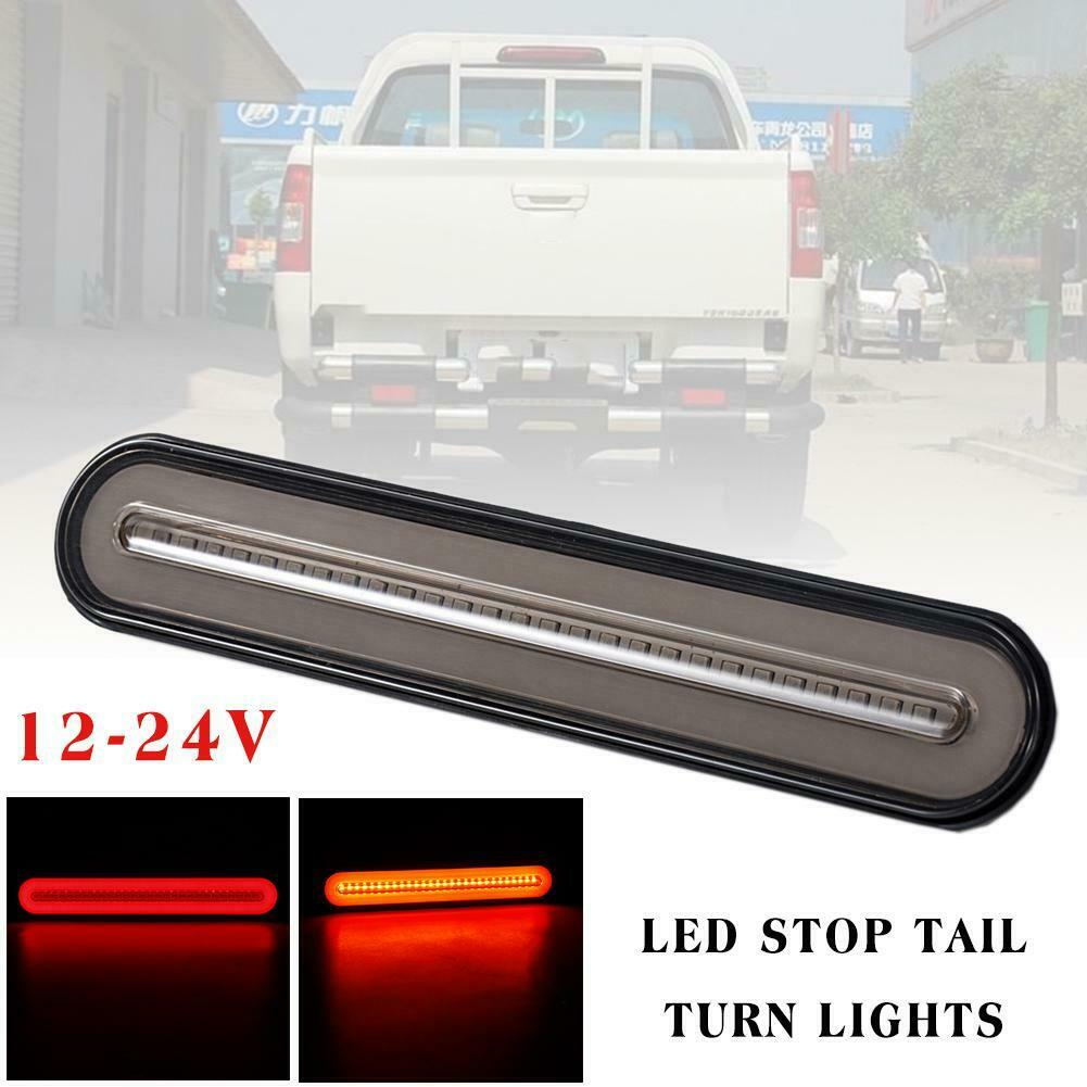 Trailer Halo Neon Tail-light Stop Flow Braking Turn Signal Rear Lamps Lights 12-24V RV Truck Stop LED Tail Light
