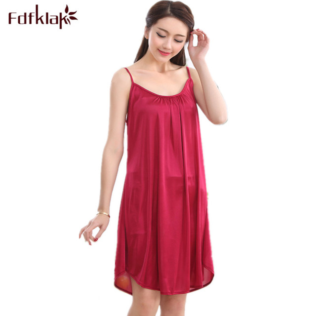 6f920f674d XXL XXXL Plus Size Sexy Sleeping Dress Women Sleeping Dress Nightdress For Women  Satin Nightdress Ladies Sleepwear White Black