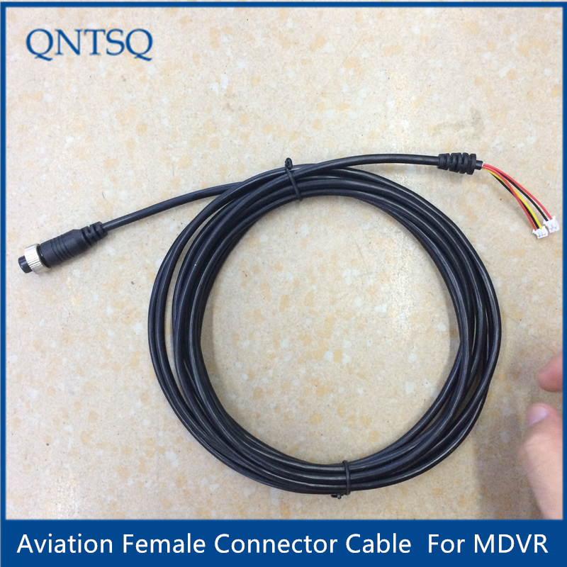 Aviation female connector cable, 4pin to MDVR,5 Pin(2P 2.0mm 3P 1.5mm) Black Cable for CCTV car Camera,rear camera fqa11n90 to 3p