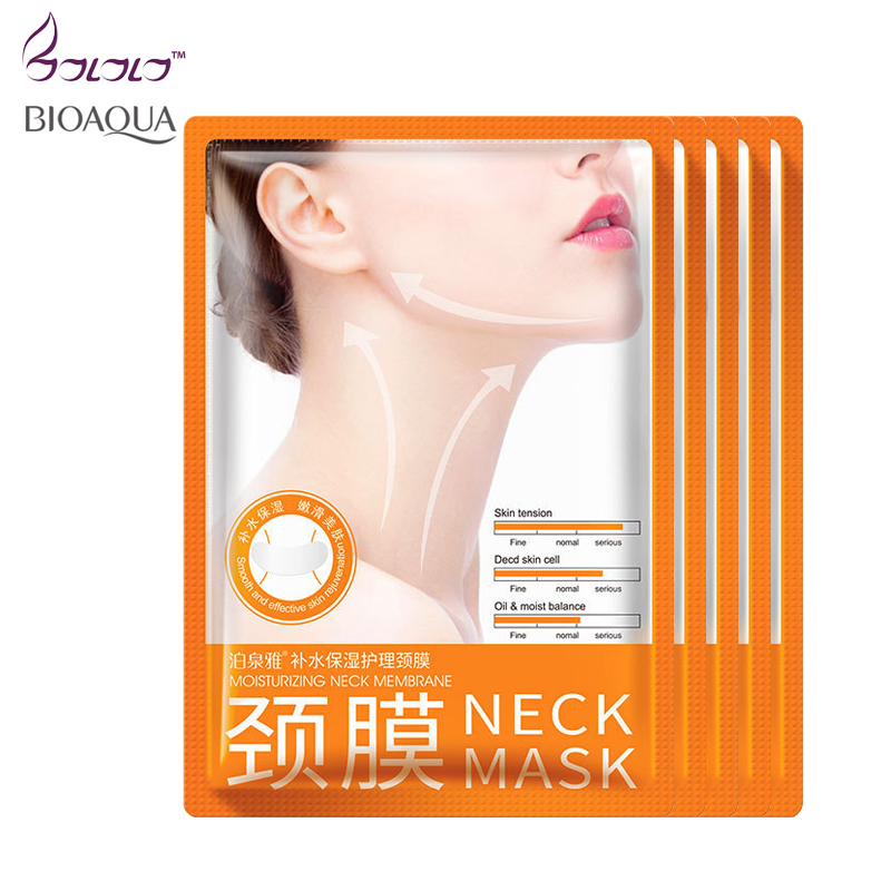 Bioaqua 5pcsNeck Mask Anti wrinkle Whitening Moisturizing No