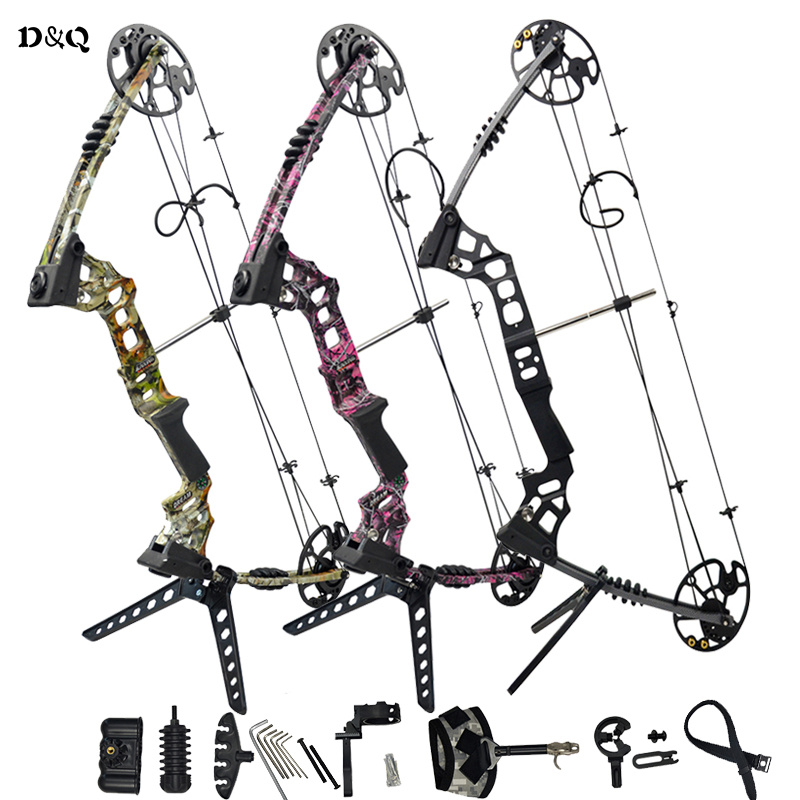 купить Hunting Compound Bow Set 20-70lbs With Complete Accessories Slingshot Bow For Outdoor Shooting Competition Games Right Left Hand по цене 24274.43 рублей