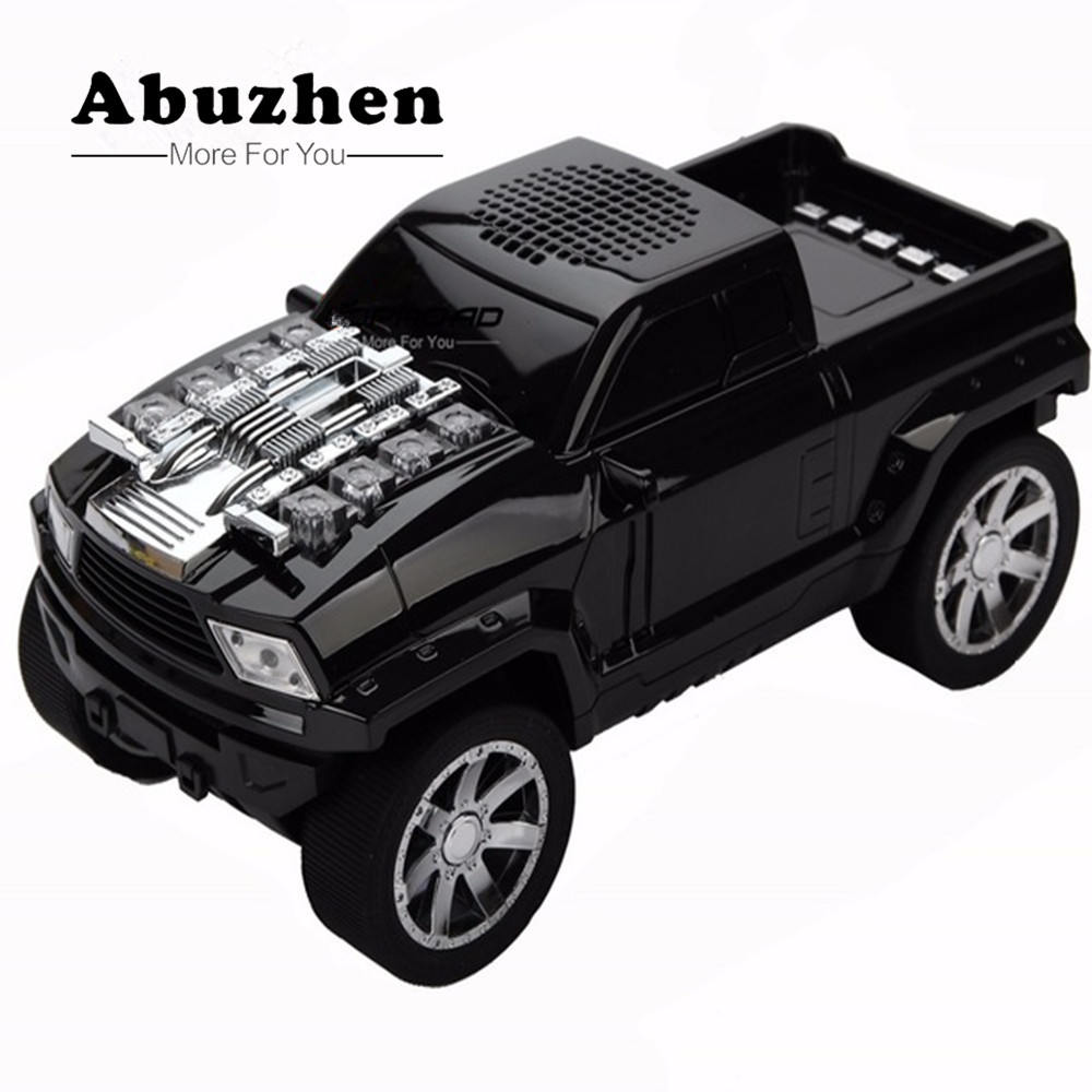 Abuzhen Bluetooth Speaker Truck Style Mini Speaker TF USB FM Wireless Portable Music Sound Box Loudspeaker with Mic caixa de som remote control vibration speaker adin mini portable fm radio speaker mp3 stereo small bass hifi metal tf speaker caixa de som