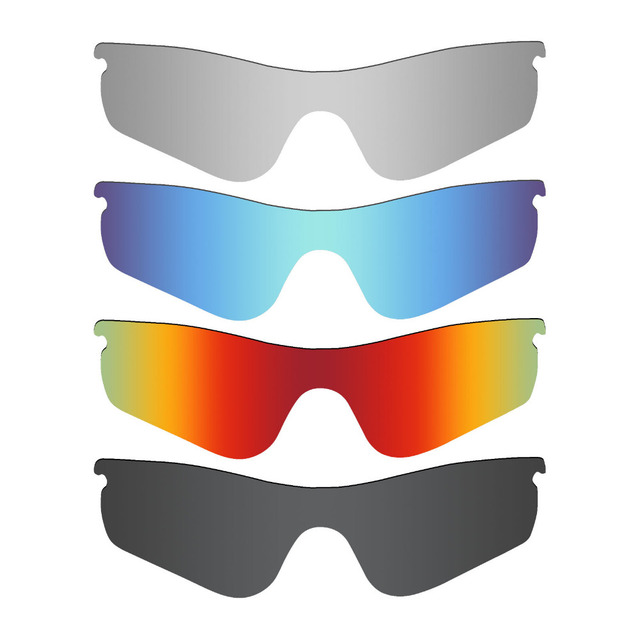ed3a3b66a9 4 Pieces Mryok POLARIZED Replacement Lenses for Oakley RadarLock Path  Sunglasses Stealth Black   Ice Blue   Fire Red   Silver