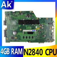 AK X751MA With N2840 CPU 4GB RAM 90NB0610 R00150 mainboard REV2.0 For ASUS X751MA X751M X751MD laptop motherboard 100% Tested