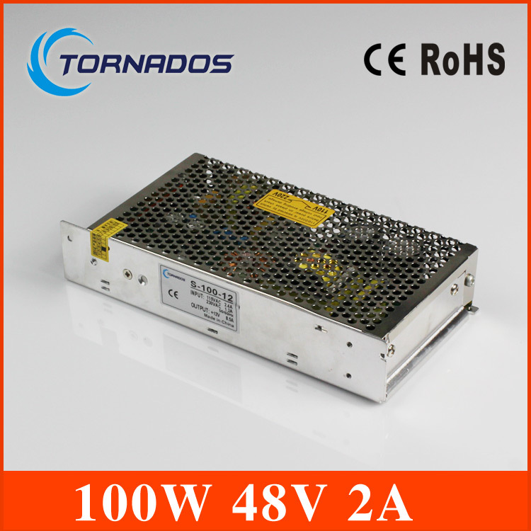 S-100-48  2A 48V 100W Single Output LED Switching Power Supply Transformer for LED Strip light Universal AC-DC Converter