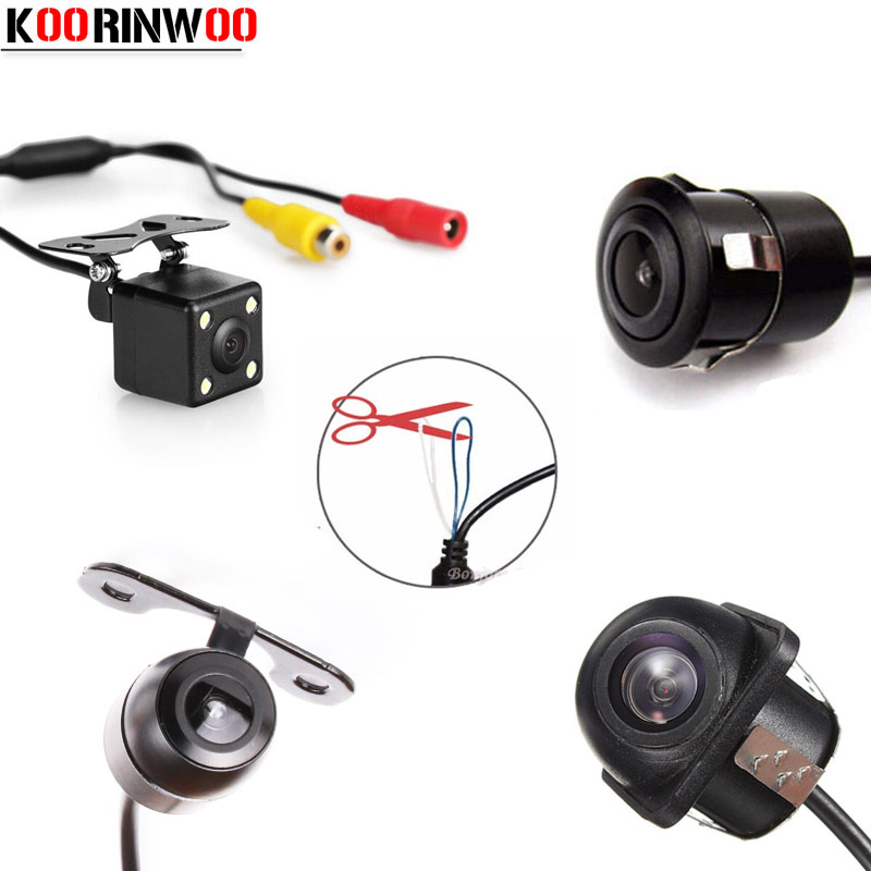 Koorinwoo Multifuntion Universal HD Auto Front Camera Car Rear View Camera Parking Assistance Reversing Back Up Cam Detector