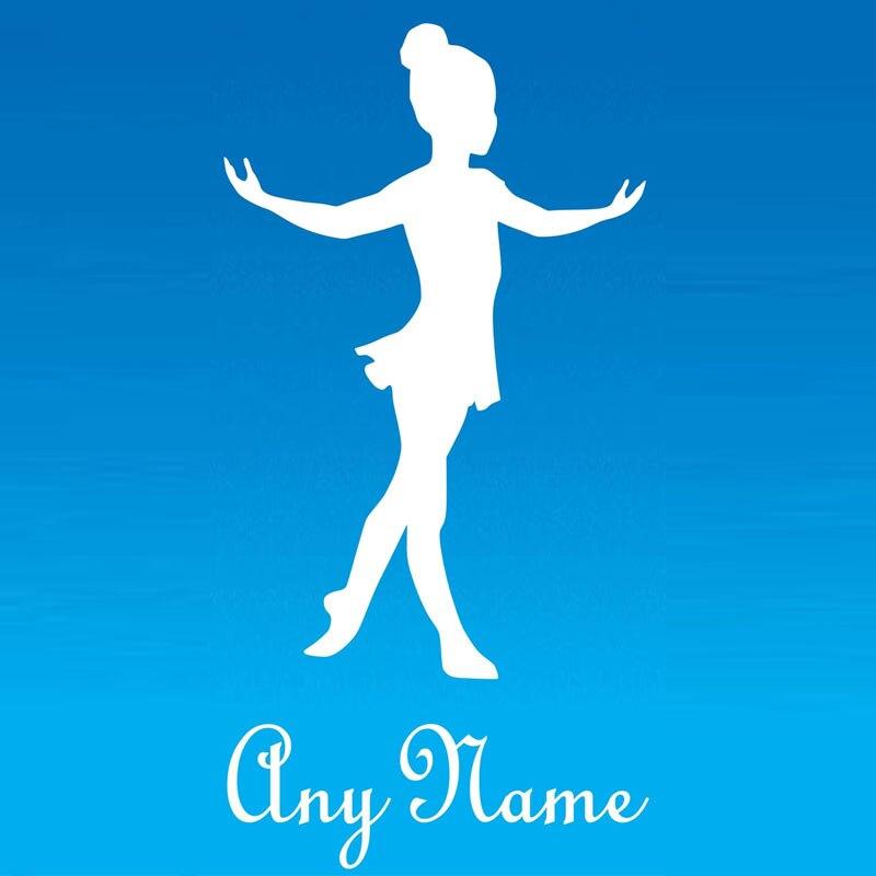 Customized Name Ballet Dancer Wall Stickers Bedroom Nursery Wall Decor Girls Dance Wall Decals Home Decor Home & Garden
