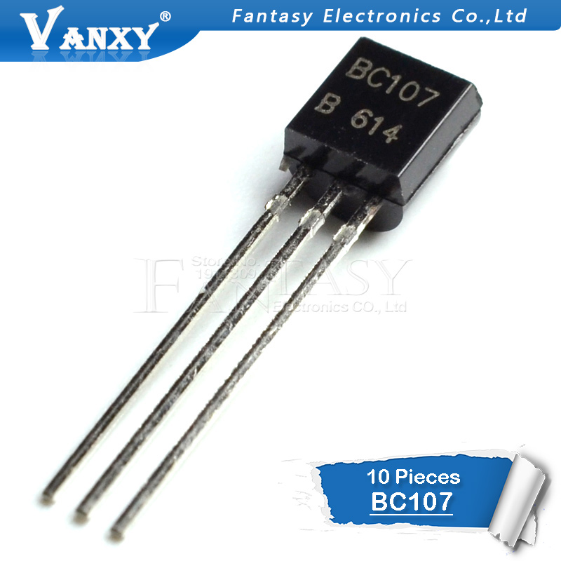 10pcs BC107 TO92 Transistor TO-92 C107 BC107B New Original