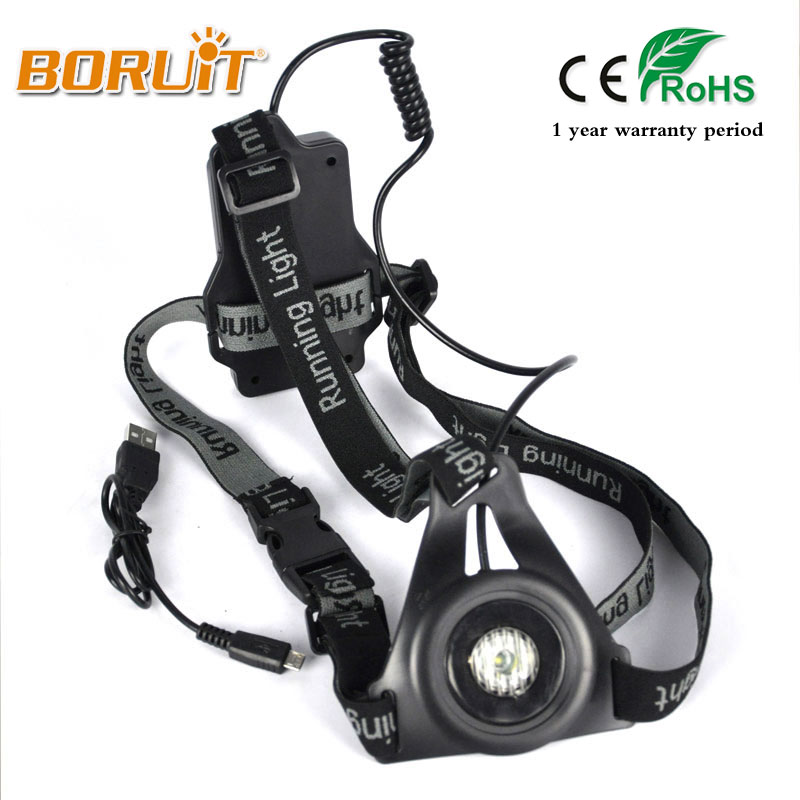 BORUIT 2000LM XPE LED 3 Modes Headlight rechargeable Head light Running Head lamp For Walking Fishing Headlamp Built in battery super bright led headlamp water resistant head torch built in 3x18650 rechargeable batteries 2 light modes headlight for outdoor