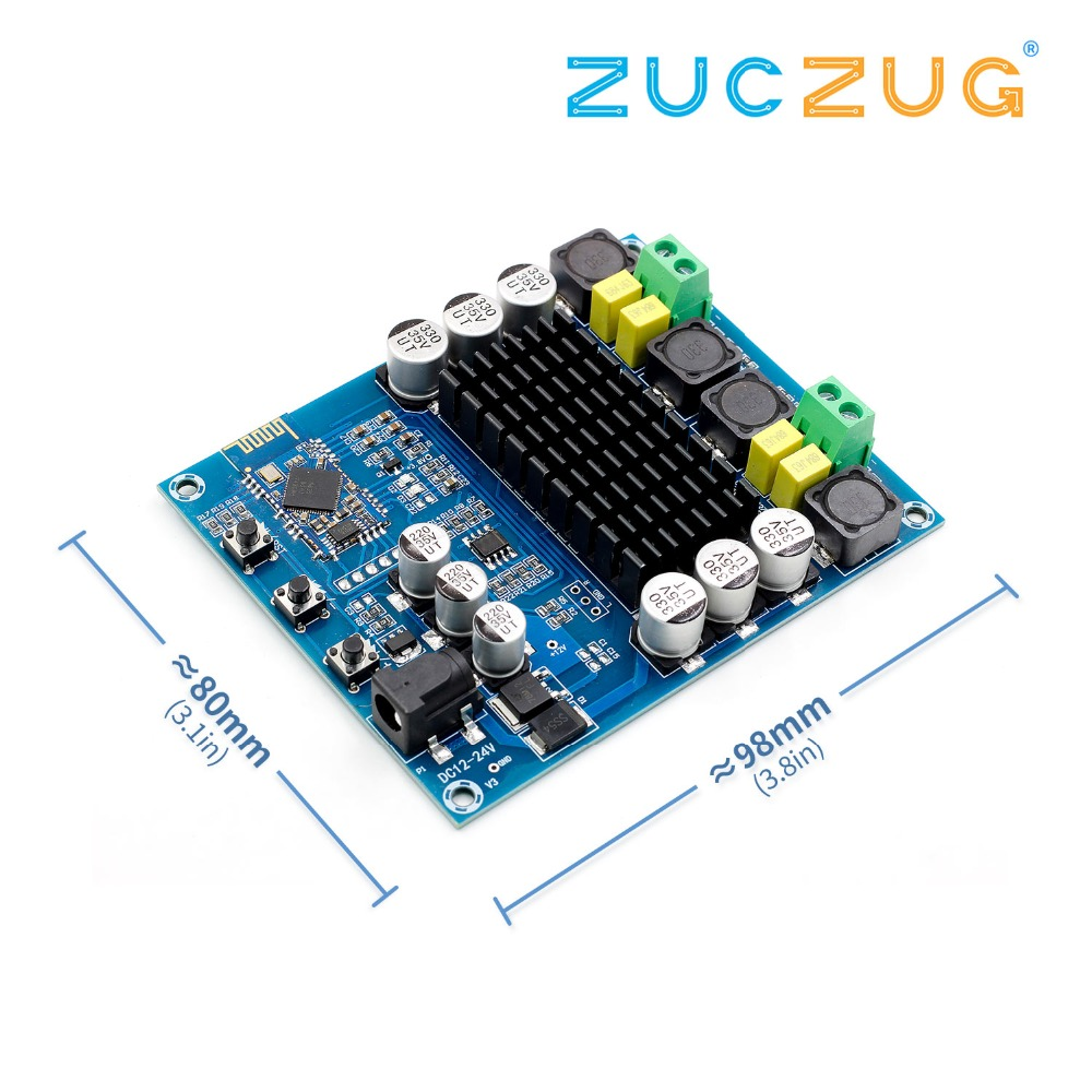 youe shone 2x120W Power Bluetooth Dual Channel Digital Amplifier Module TPA3116D2 XH-M548 Audio Amplifieryoue shone 2x120W Power Bluetooth Dual Channel Digital Amplifier Module TPA3116D2 XH-M548 Audio Amplifier