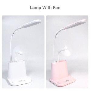 Image 5 - USB נטענת LED מנורת שולחן מגע עמעום התאמת שולחן מנורת לילדים ילדים קריאת מיטת מחקר חדר שינה סלון