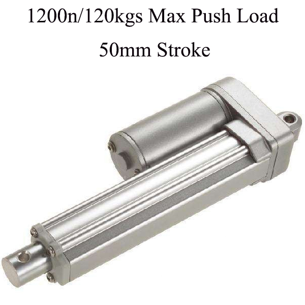2inch 50mm stroke 5mm s speed dc 12V 24V 1200N 120kgs max load electric linear actuators