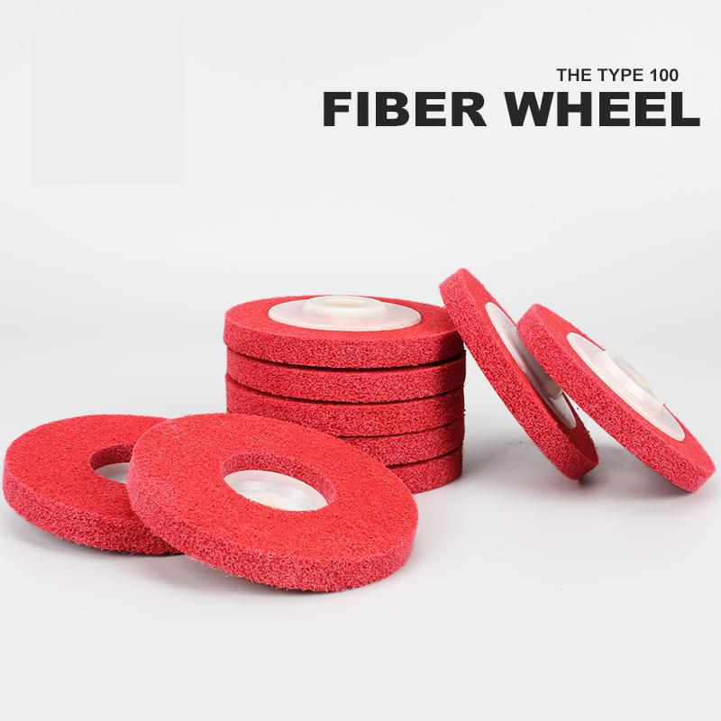Image 2 - Metal polishing wheel 100*16mm7p 9p Non woven abrasive wheel Nylon Fiber polishing wheel Abrasive disc-in Abrasive Tools from Tools