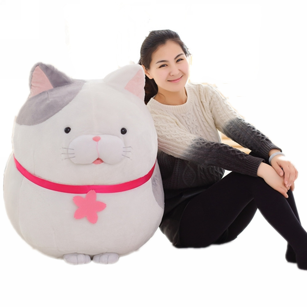 Fancytrader Big Fat Cat Plush Toy Giant Soft Stuffed Japan Anime AMUSE Cats Doll for Children fancytrader stuffed anime cat plush toy lovely big soft cats pillow cushion best gifts for birthady xmas