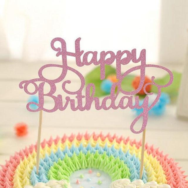 Online Shop Bright Cake Happy Birthday Inserted Card Happy Birthday