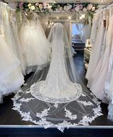 2019 Cathedral Wedding Veils 3M with Comb Lace Mantilla Bridal Veil Elegant Wedding Accessories Cathedral Length