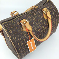 Designer handbags Boston monogram canvas fashion handbags leather handle strap with bronzing oxidation DHL speedy shipping