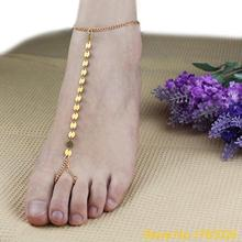 Women Sexy Gold Plated Casual Anklet Toe Slave Bracelet Foot Chain Sandal Beach Jewelry  4TUH