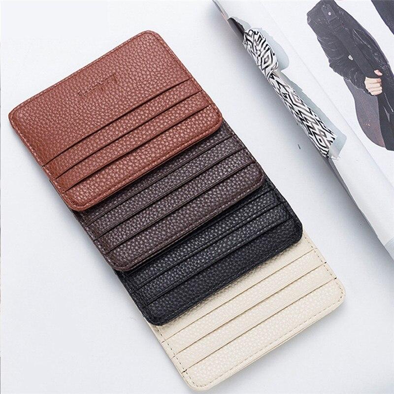Mode Frauen Lichee Muster Bank Karte Paket Münze Tasche Karte Halter Reise Leder Männer Brieftaschen Frauen Kreditkarte Halter Abdeckung