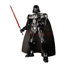 цена на Star War The Last Jedi Buildable Figure Darth Vader Rey Kylo Ren Luke Skywalker Building Block Toy compatible with legoings