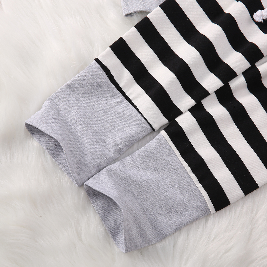 2017 Infant Baby Boys Girls Striped Clothes Set Hoodie Tops T-shirt+Cotton Striped Pants 2pcs Suit Newborn Baby Clothing Sets
