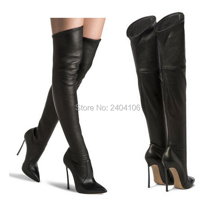 Botas Mujer 2018 Autumn Fashion Long Stretch Booties Cuissard Over The Knee Boots Stiletto High Heels Thigh High Boots Women