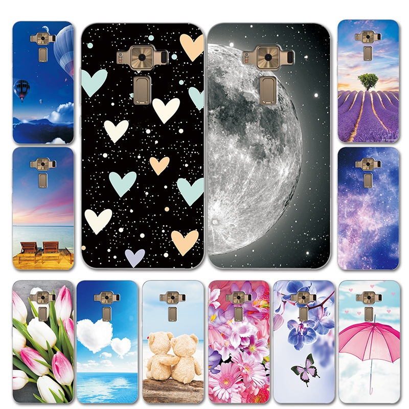 For ASUS Zenfone 3 ZE520KL 5.2'' Silicone Phone Case Cover Moon Style Love Heart Case For ASUS Zenfone 3 ZE520KL Shell Bags
