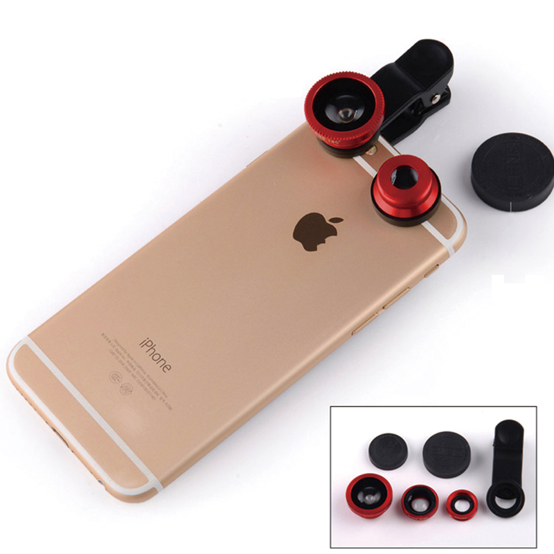 Universal Mobile Phone Lens Fisheye Wide-angle Macro lens For iPhone Samsung Xiaomi Telephoto Smartphone Camera Lens with Clip