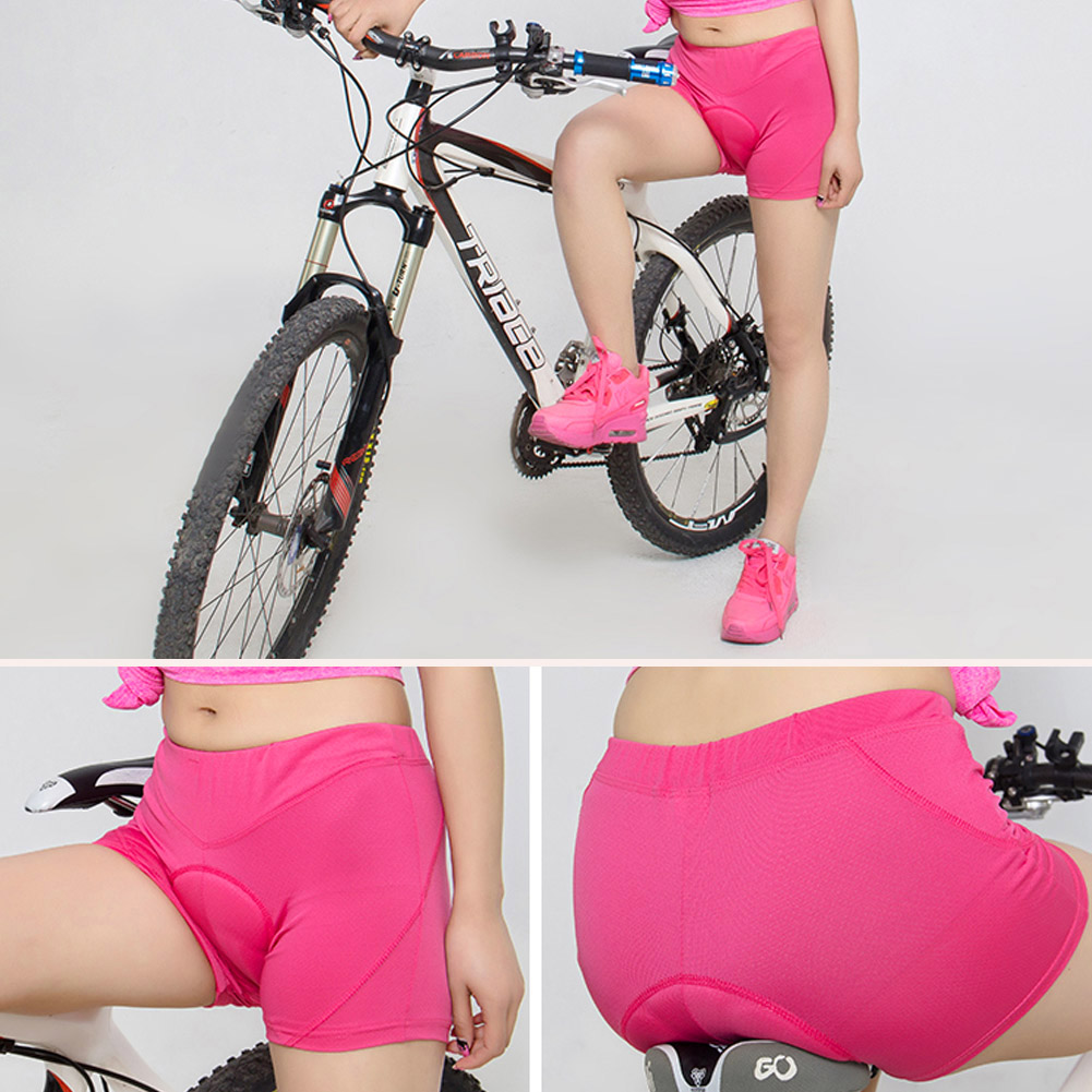 New Women Under Shorts Bicycle Cycling Bike 3D Padded Gel Underwear Quick Dry MTB Shorts Tights Shorts S-XXXL