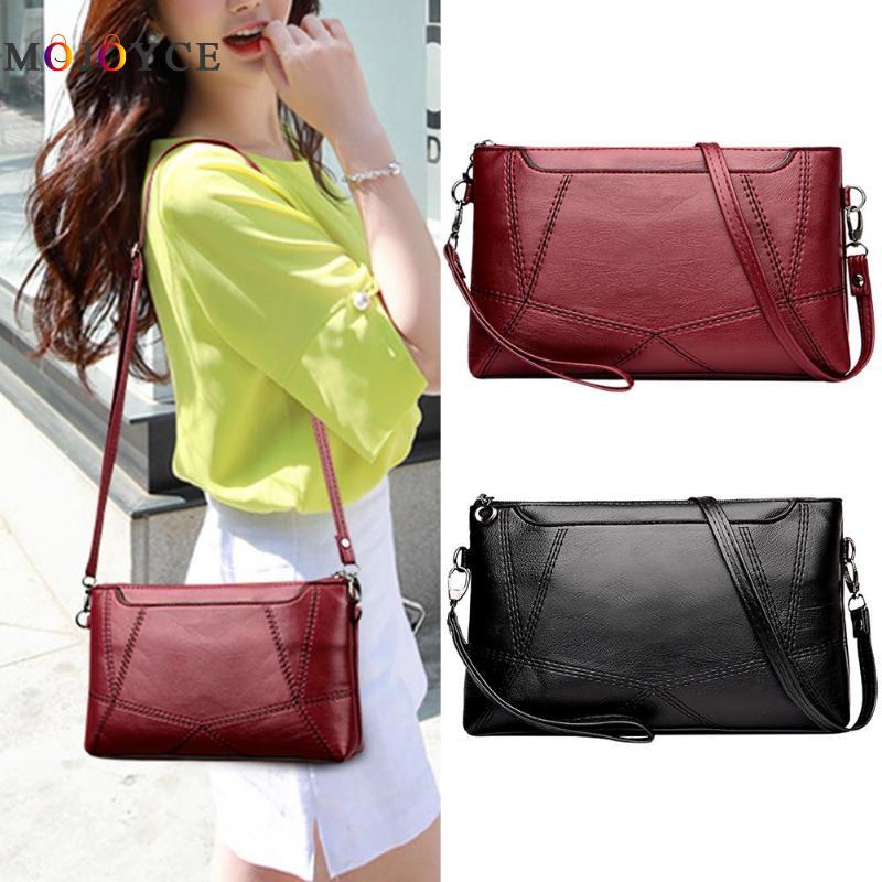 Casual Women Messenger Bag Female PU Leather Shoulder Crossbody Bag Office Ladies Designer Handbag Bolsa Feminina 2