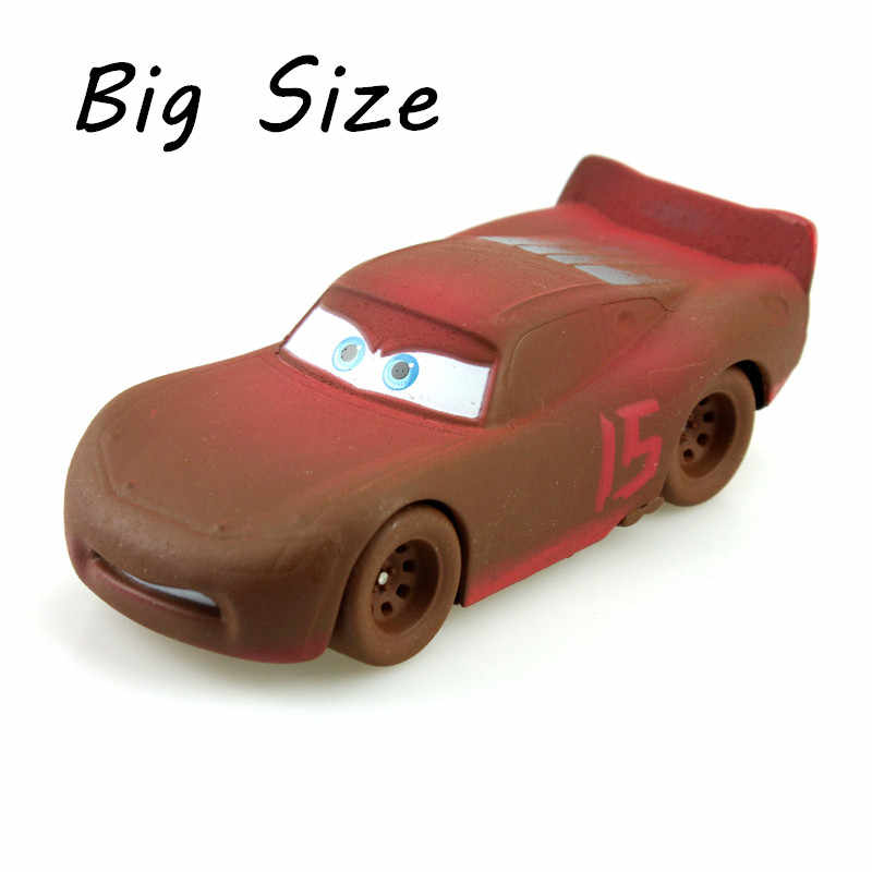 Disney Pixar Cars 3 Crazy Crashed Party Big Size Soil Lightning McQueen 1:55 Scale Diecast Metal Alloy Toys Car Model Doll