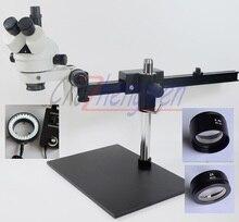 FYSCOPE 3.5X ~ 90X Trinokular Guide Stereo Zoom Mikroskop PCB Inspektion Mikroskop + 60 stücke led licht