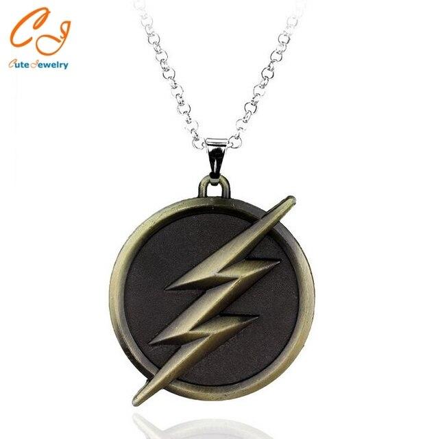 series the flash necklace lightning logo