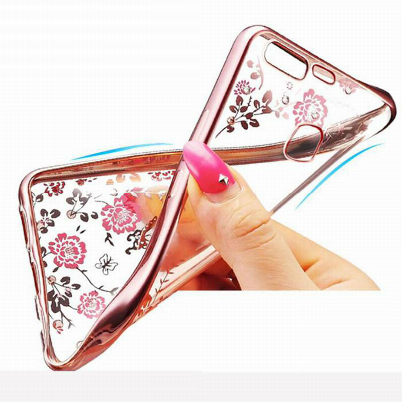 Bling Flowers Soft TPU Case For Huawei P9Lite Mini Honor V10 9 Y5 7X 6A 6X 6C Mate10Pro Nova2i P8Lite NOVA 2 2i 2s Plus Play6